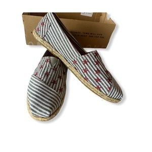 TOMS Navy Stars And Stripes 9 New